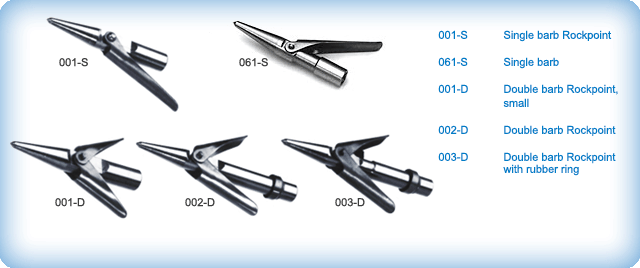 A.B. Biller Economy Stainless Steel and plated Spearpoints